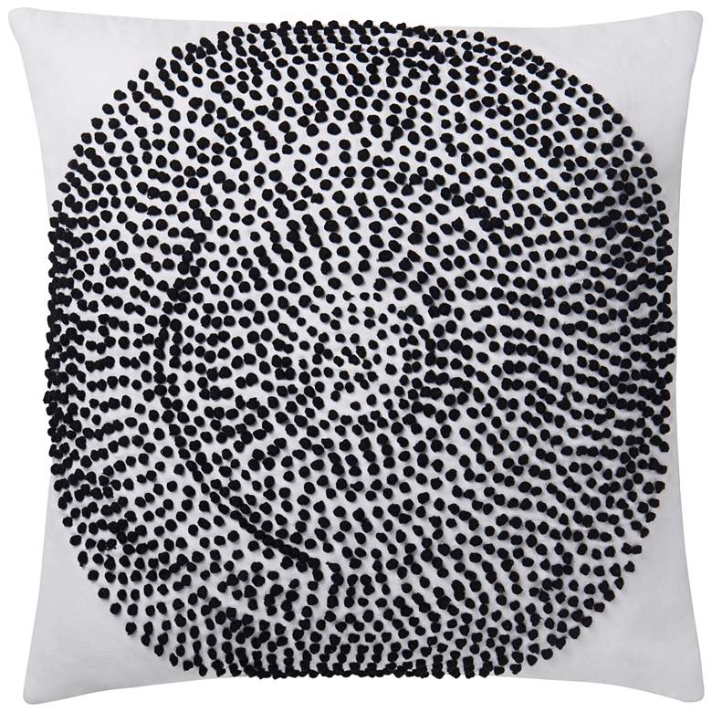 "Justina Blakeney Natural and Black 22"" Square Throw Pillow"