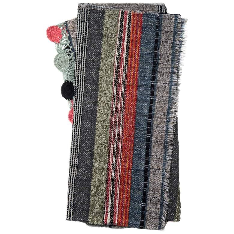 Loloi Posy Multi-Color Gray Striped Throw Blanket