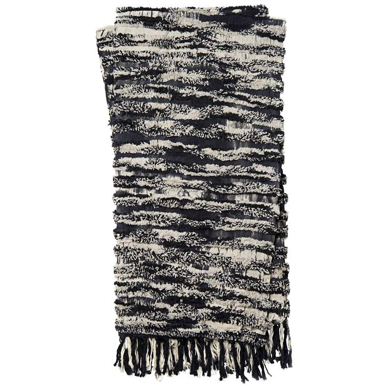 Loloi Tyra Black Cotton Throw Blanket
