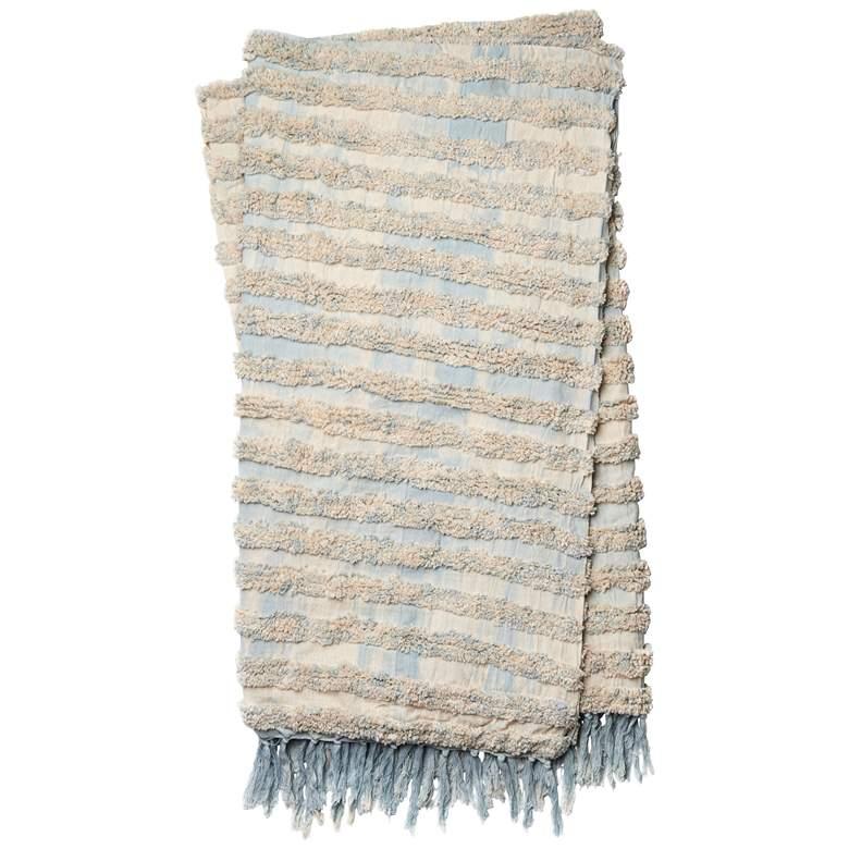 Loloi Tyra Light Blue Cotton Throw Blanket