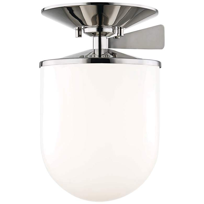 "Mitzi Audrey 7 1/2"" Wide Polished Nickel Ceiling Light"