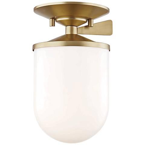 """Mitzi Audrey 5 1/2"""" Wide Aged Brass Ceiling Light"""