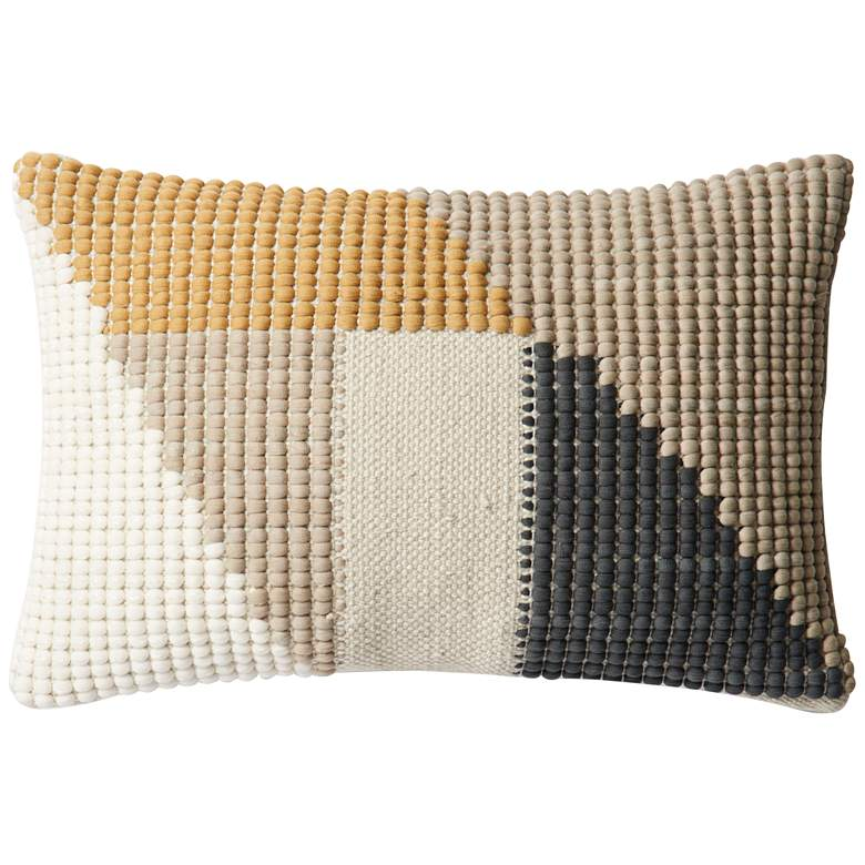"Loloi Multi-Color 13""x21"" Indoor-Outdoor Throw Pillow"