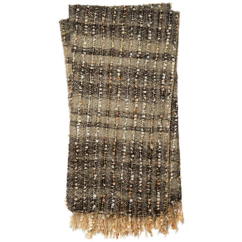Loloi Tess Beige and Brown Throw Blanket