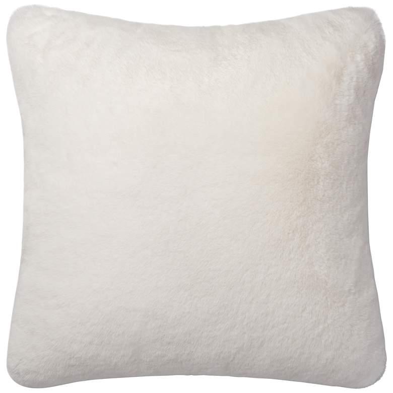 """Loloi White 22"""" Square Throw Pillow"""