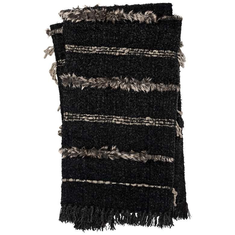 Loloi Dela Multi-Color Charcoal Throw Blanket