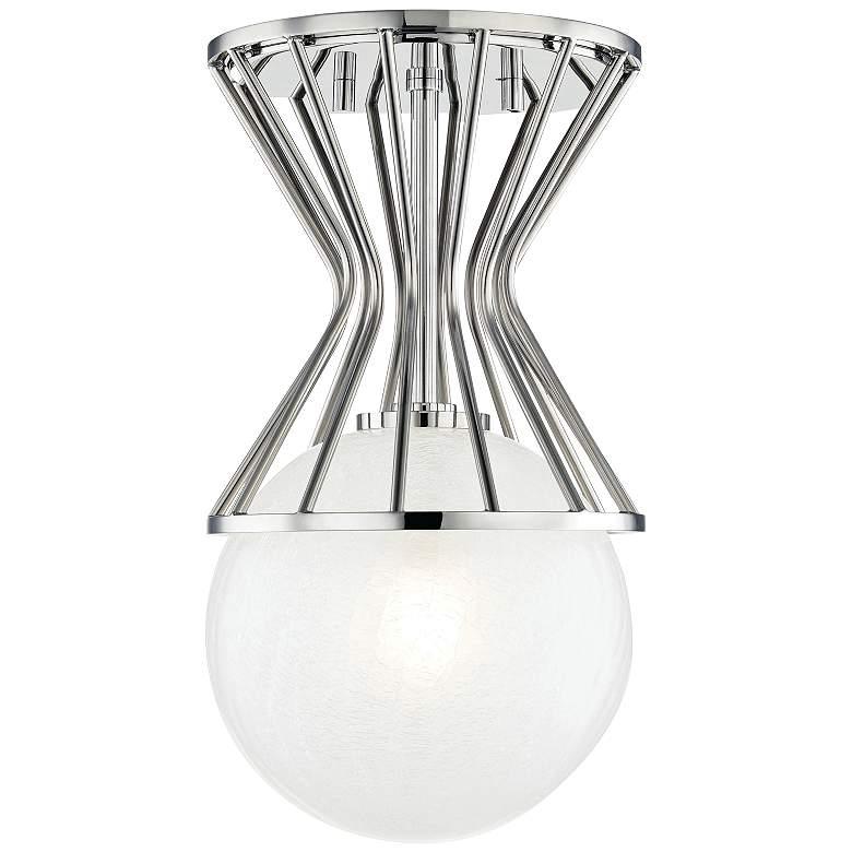 "Mitzi Petra 7 3/4"" Wide Polished Nickel Ceiling Light"