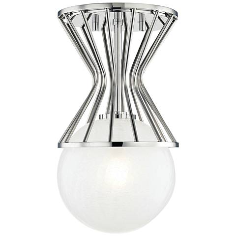 "Mitzi Petra 7 3/4"" Wide Polished Nickel Ceiling Light"