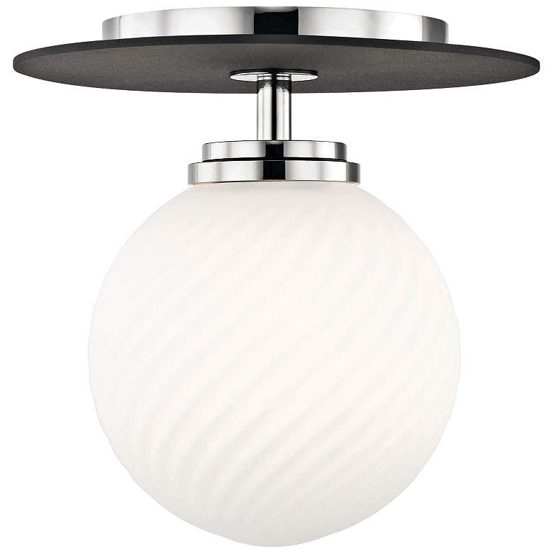 "Mitzi Ellis 7"" Wide Polished Nickel LED Ceiling Light"