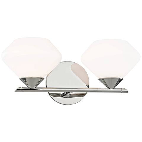 """Mitzi Valerie 6"""" High Polished Nickel 2-Light Wall Sconce"""