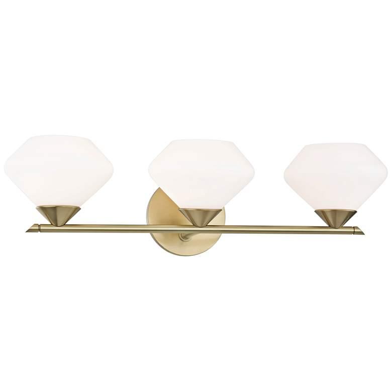 """Mitzi Valerie 21 3/4"""" Wide Aged Brass 3-Light Bath Light"""