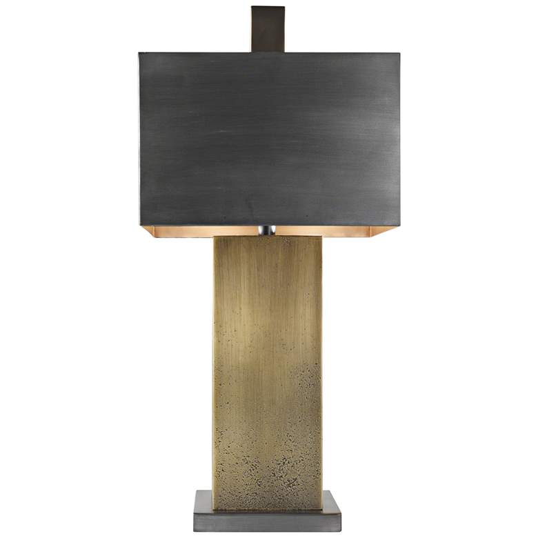 Tortoise Ombre Brass and Bronze Table Lamp