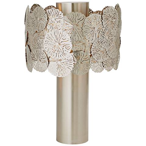 Lily Pad Antique Nickel Table Lamp