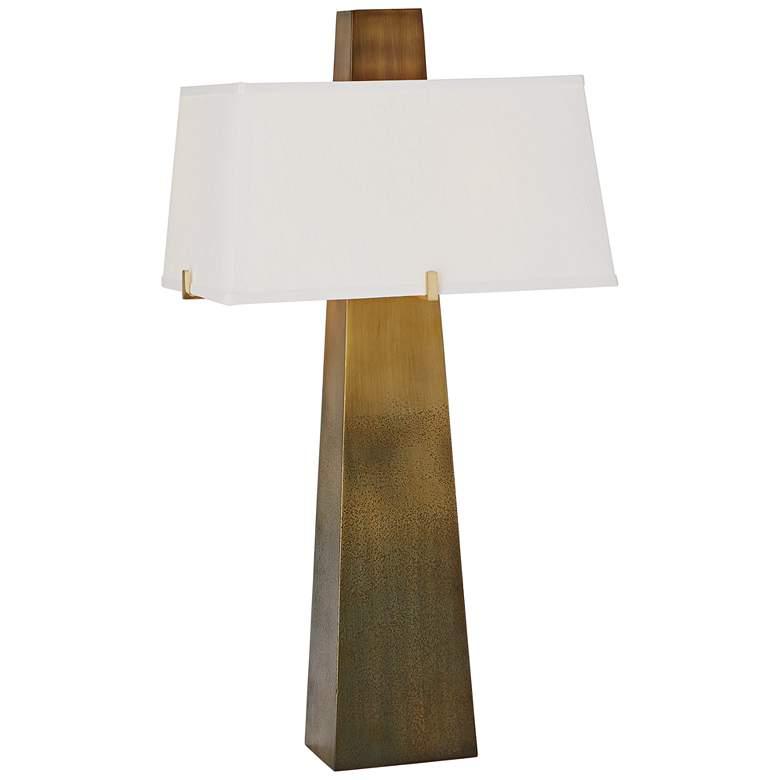 Stoic Ombre Brass Modern Column Table Lamp