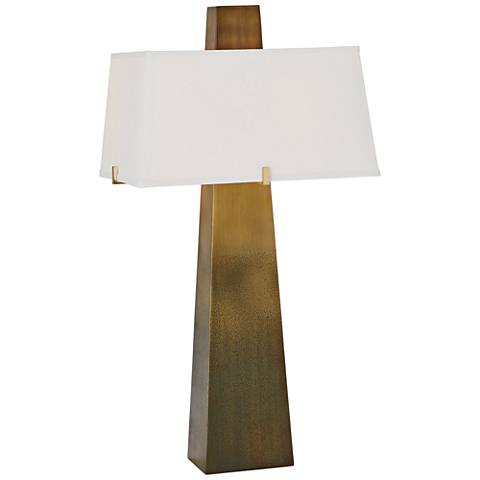 Stoic Ombre Brass Column Table Lamp