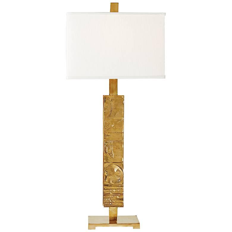 Pimlico Paneled Brass Table Lamp