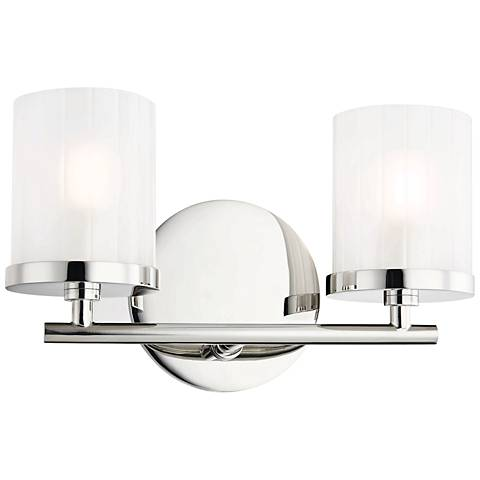 "Mitzi Ryan 6 1/4"" High Polished Nickel 2-Light Wall Sconce"