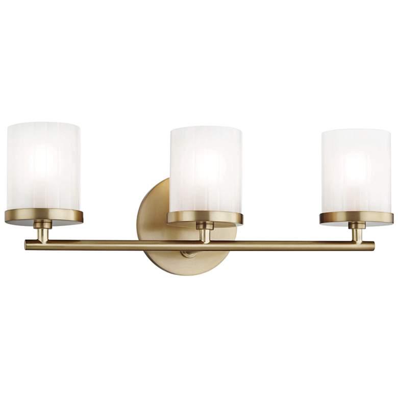 "Mitzi Ryan 17 1/2"" Wide Aged Brass 3-Light Bath Light"