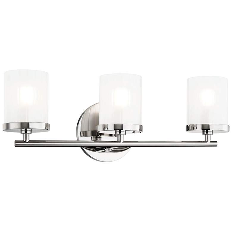 "Mitzi Ryan 17 1/2"" Wide Polished Nickel 3-Light Bath Light"