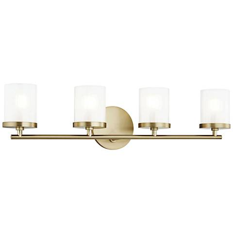 "Mitzi Ryan 24 3/4"" Wide Aged Brass 4-Light Bath Light"