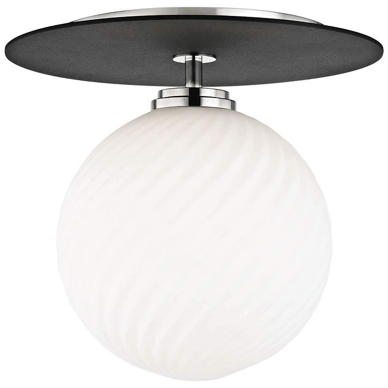 "Mitzi Ellis 10 1/4"" Wide Polished Nickel LED Ceiling Light"