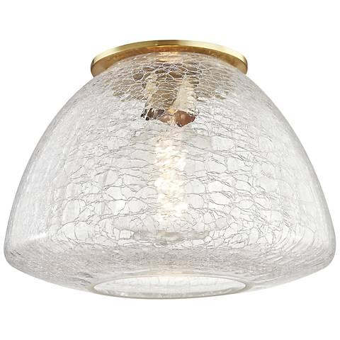 "Mitzi Maya 12"" Wide Aged Brass Ceiling Light"