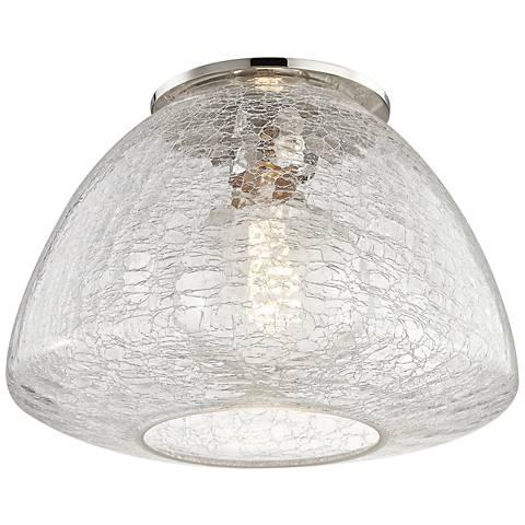 "Mitzi Maya 12"" Wide Polished Nickel Ceiling Light"