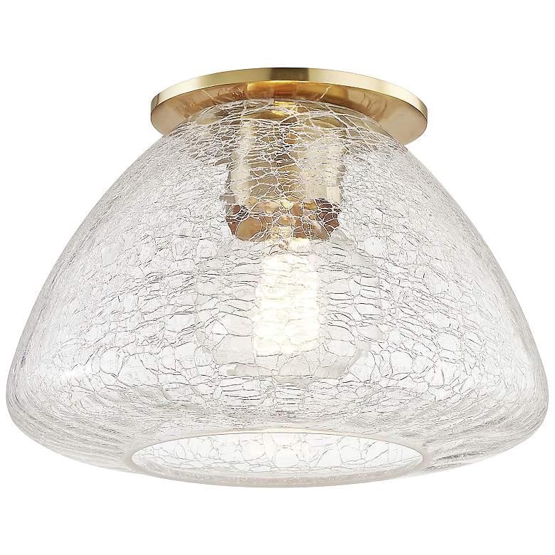 "Mitzi Maya 9"" Wide Aged Brass Ceiling Light"
