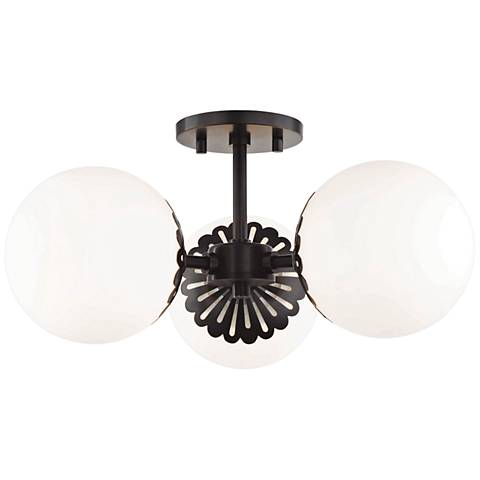 "Mitzi Paige 17 1/2"" Wide Old Bronze 3-Light Ceiling Light"