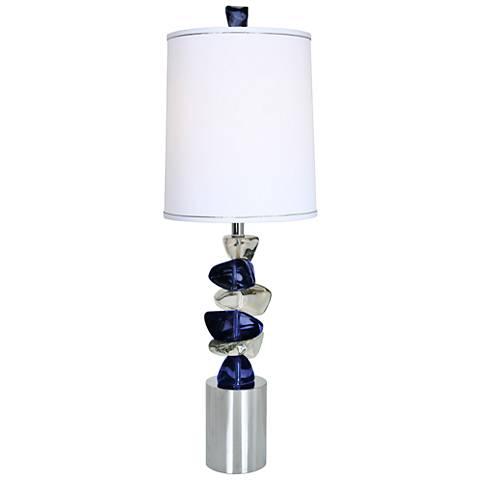 Van Teal Blue Dream Chrome Table Lamp