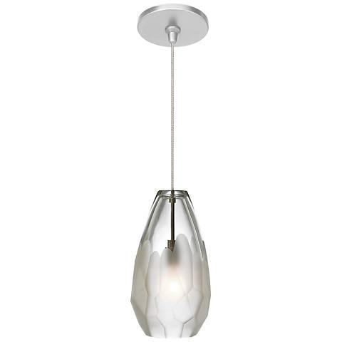 "LBL Briolette FSJ 4 1/4"" Wide Frost Glass Mini Pendant"