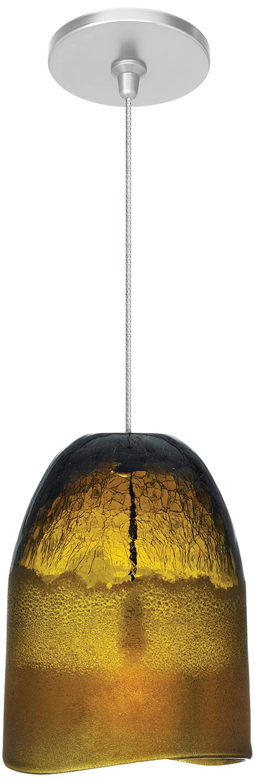 Lbl chill fsj 6 1 4 wide amber ice glass mini pendant 47250 7x519 lamps plus