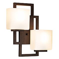 """Lighting on the Square Bronze 15 1/2"""" High Wall Sconce"""
