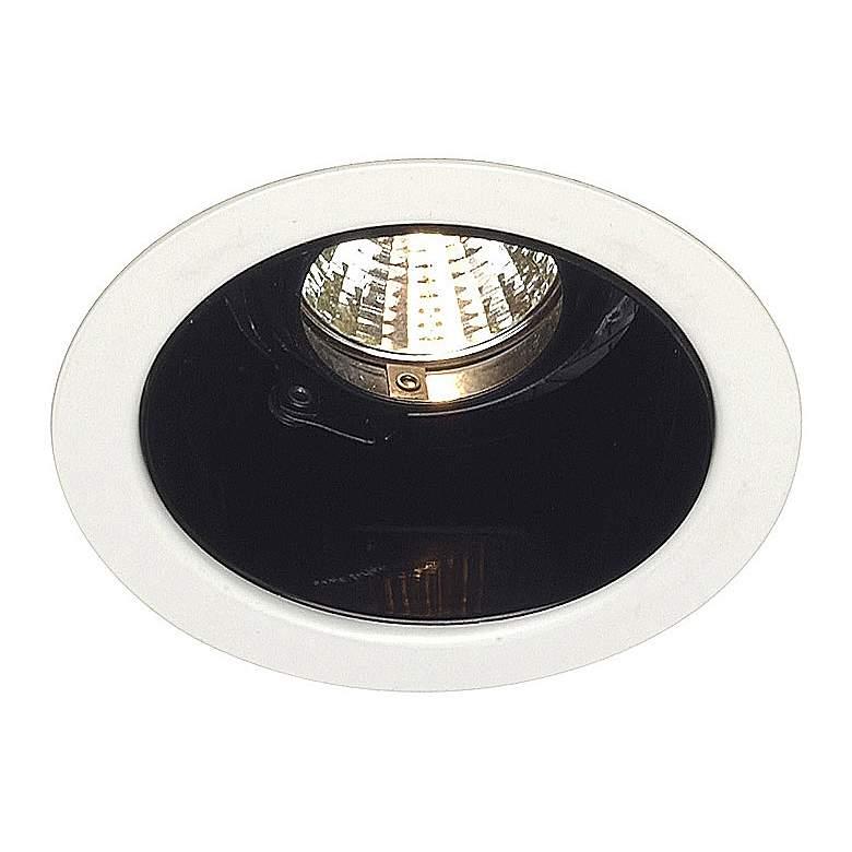"""Lightolier 4"""" Low Voltage Black Alzak Recessed Light Trim"""