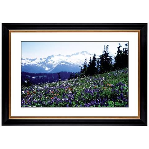 """Flower Field Giclee 41 3/8"""" Wide Wall Art"""