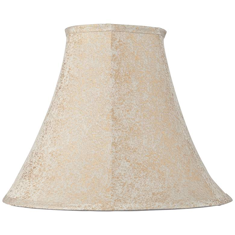 Cream and Gold Thread Weave Bell Shade 7x16x12