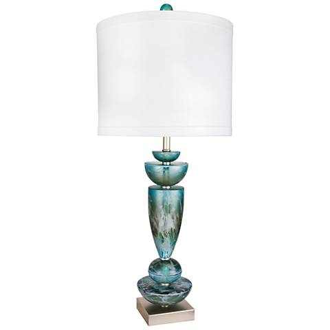 Van Teal Flagship Teal Acrylic Table Lamp