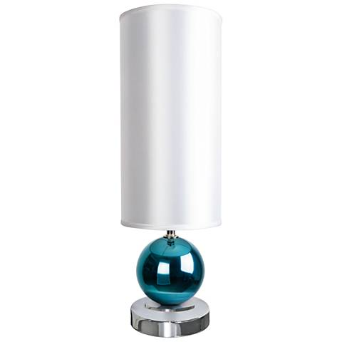 Van Teal No Doubt Teal and Chrome Metallic Table Lamp