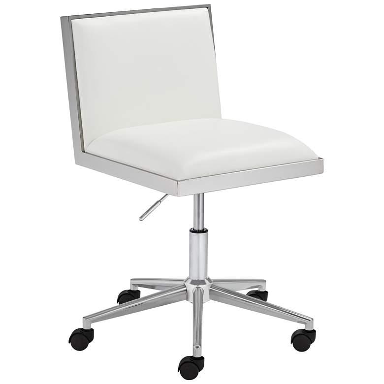 Emario Aspen White Modern Adjustable Swivel Office Chair