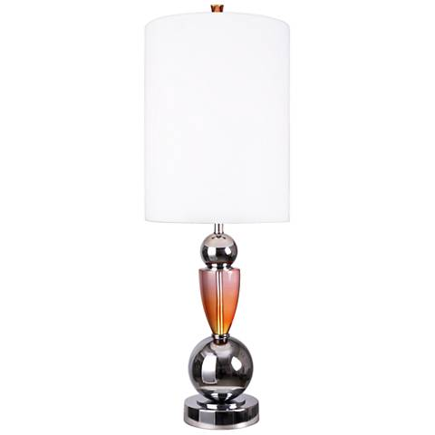 Van Teal Every Moment Chrome and Pink Splendor Table Lamp