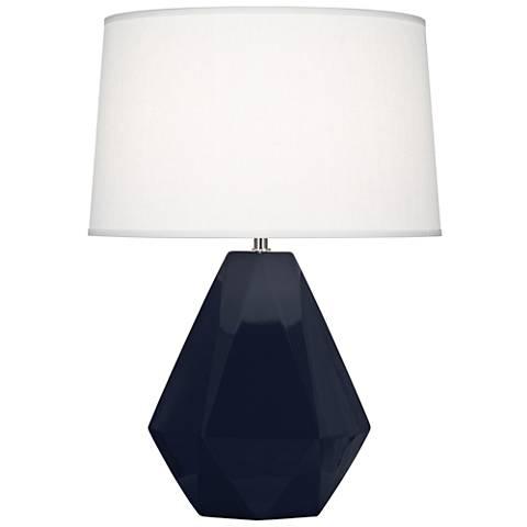Delta Midnight Blue Glazed Ceramic Accent Table Lamp