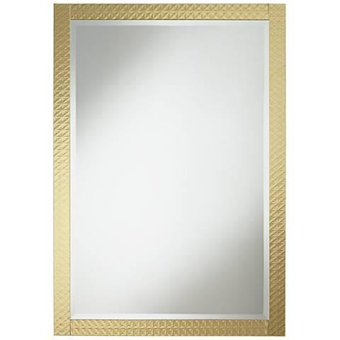 """Allegra Soft Gold 27 1/2"""" x 39 1/4"""" Rectangular Mirror"""