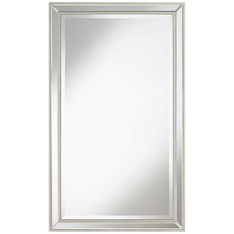 "Helena Antique Silver 25"" x 42"" Rectangular Wall Mirror"