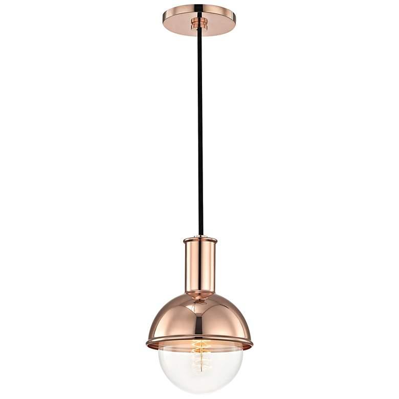 """Mitzi Riley 6 1/4"""" Wide Polished Copper Mini Pendant"""