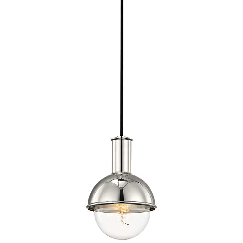 "Mitzi Riley 6 1/4"" Wide Polished Nickel Mini Pendant"