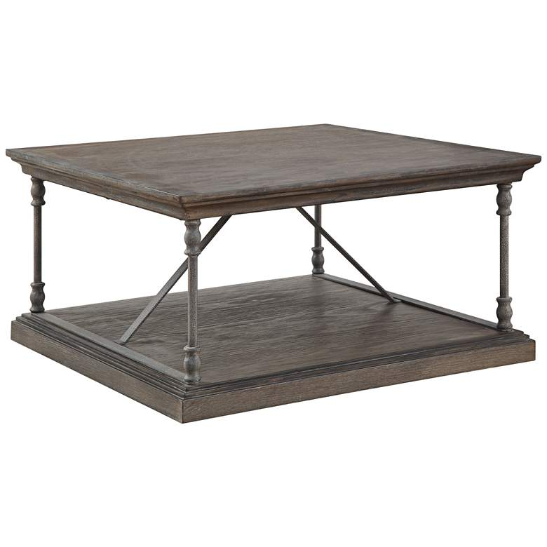 """Corbin 36"""" Wide Wooden Square Cocktail Table"""