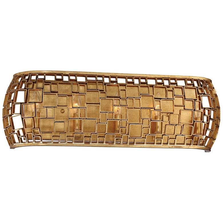 """Metropolitan Abbondanza 26""""W Halcyon Gold 5-Light Bath Light"""