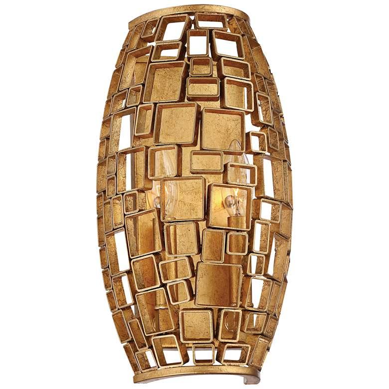"Abbondanza 13 1/2"" High Halcyon Gold Wall Light Sconce"