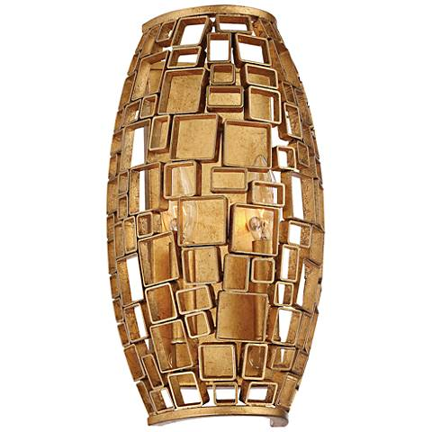 "Abbondanza 13 1/2"" High Halcyon Gold 2-Light Wall Sconce"