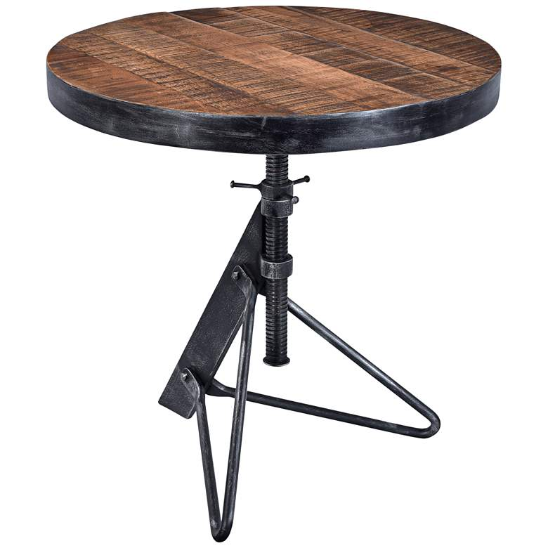 """Braden 24"""" Wide Natural Wood Adjustable Height Accent Table"""